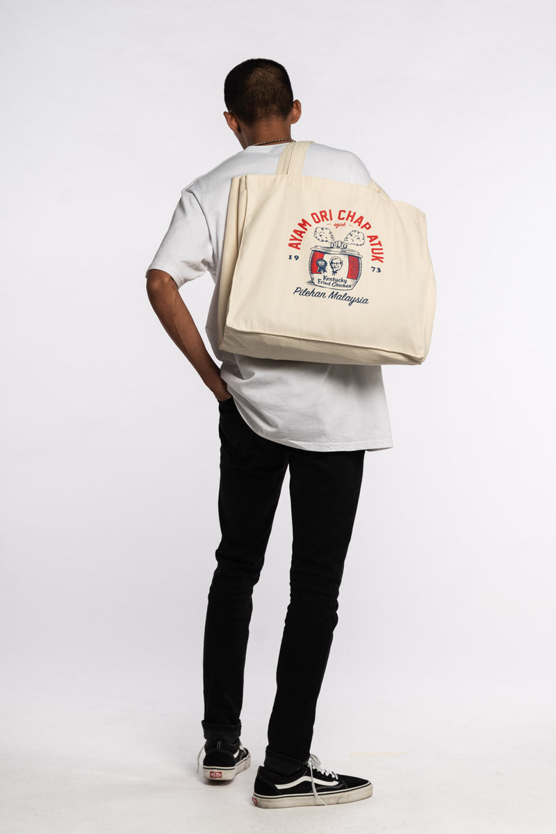 Under Pressure Tote Bag White