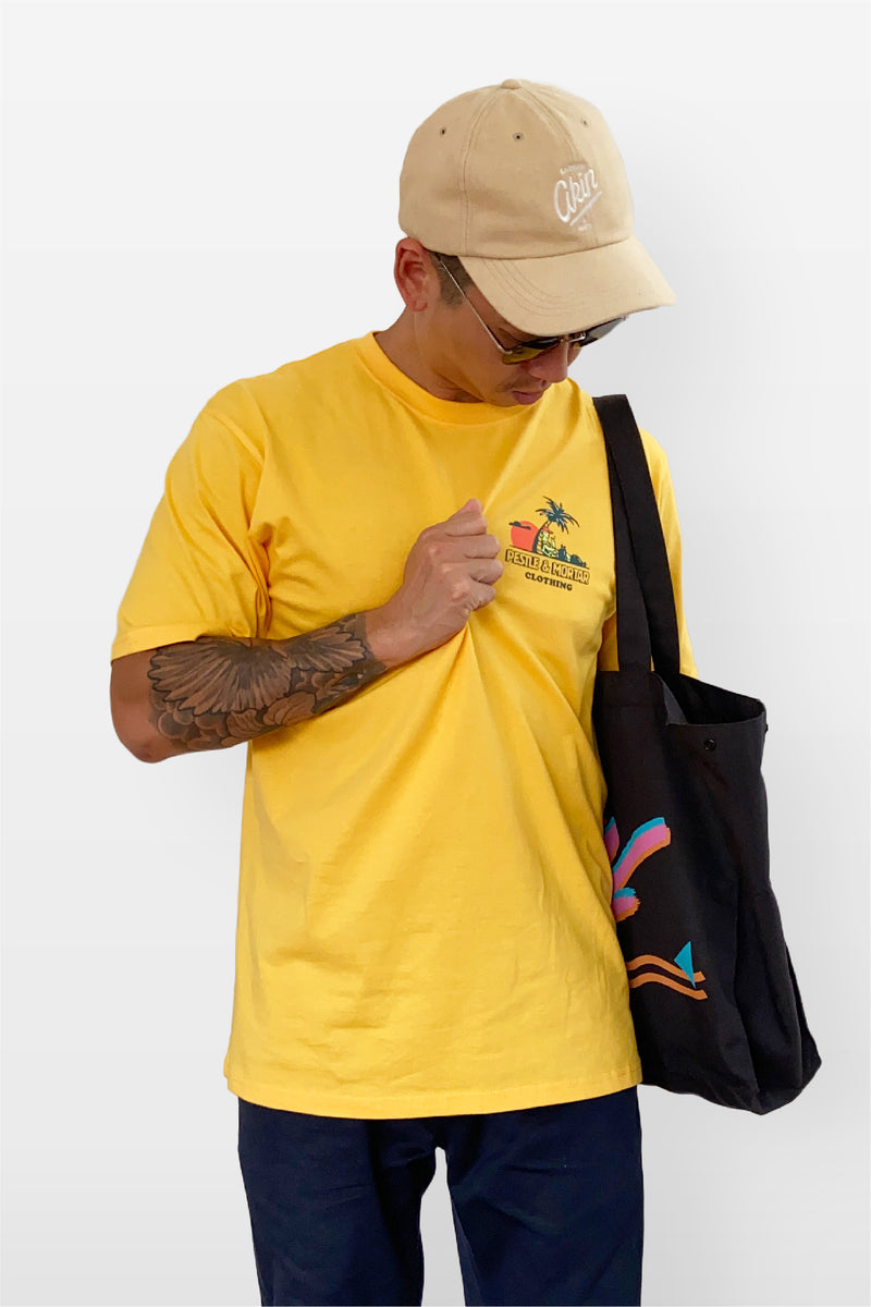 Save The Turtles Tee Yellow