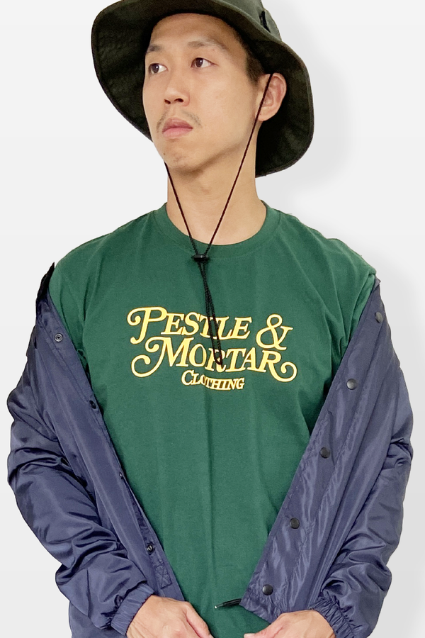 Cursive Logo Tee Forest Green
