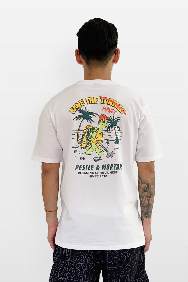 Save The Turtles Tee White