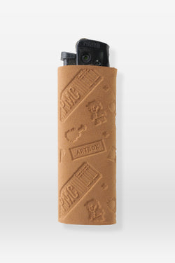 Artbox x PMC Lighter Sleeve Monogram Tan