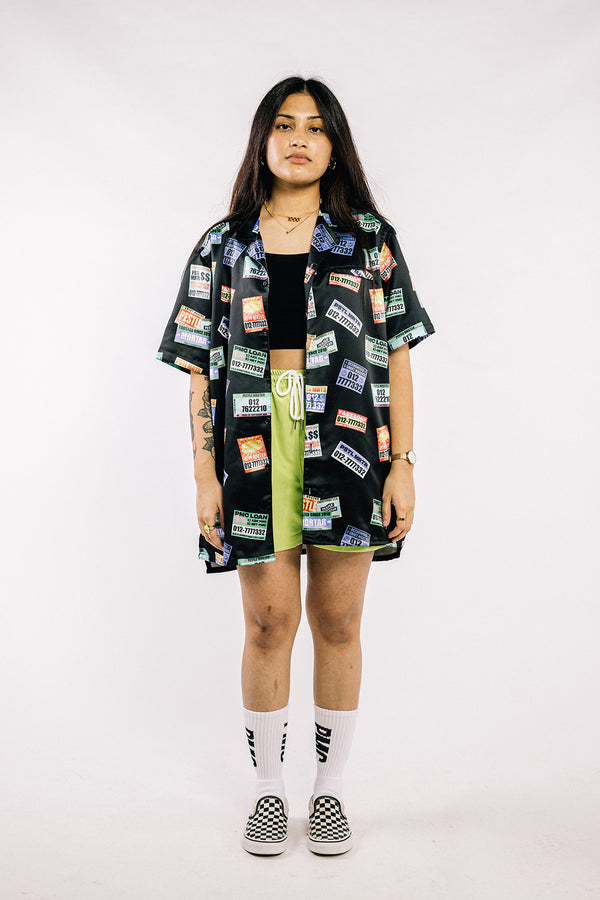 Ah Long Culture Bowling Shirt Black (PRE-ORDER)