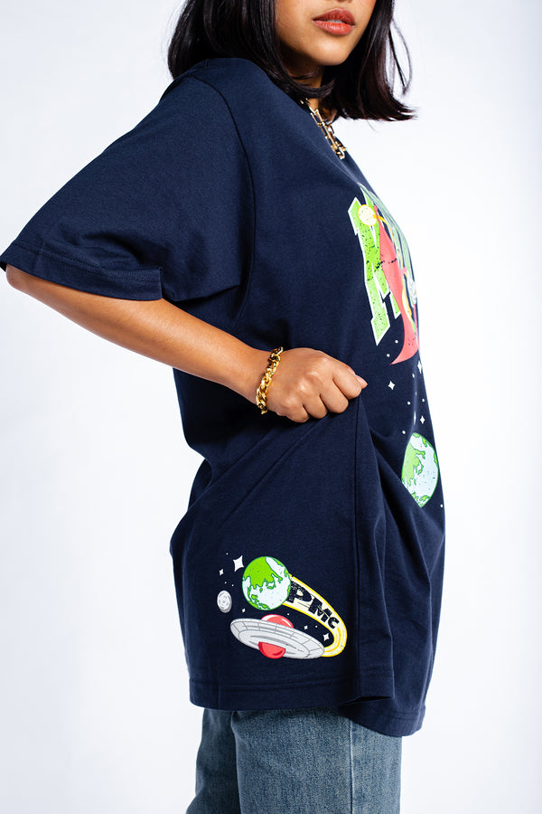 PMC x Looney Tunes Marvin The Martian Tee Navy Blue