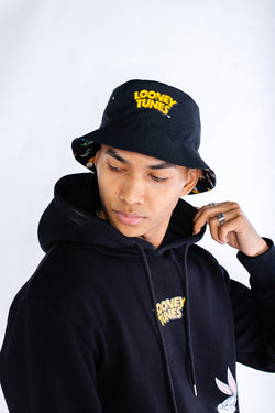 PMC x Looney Tunes Fam Bam Reversible Bucket Hat Black