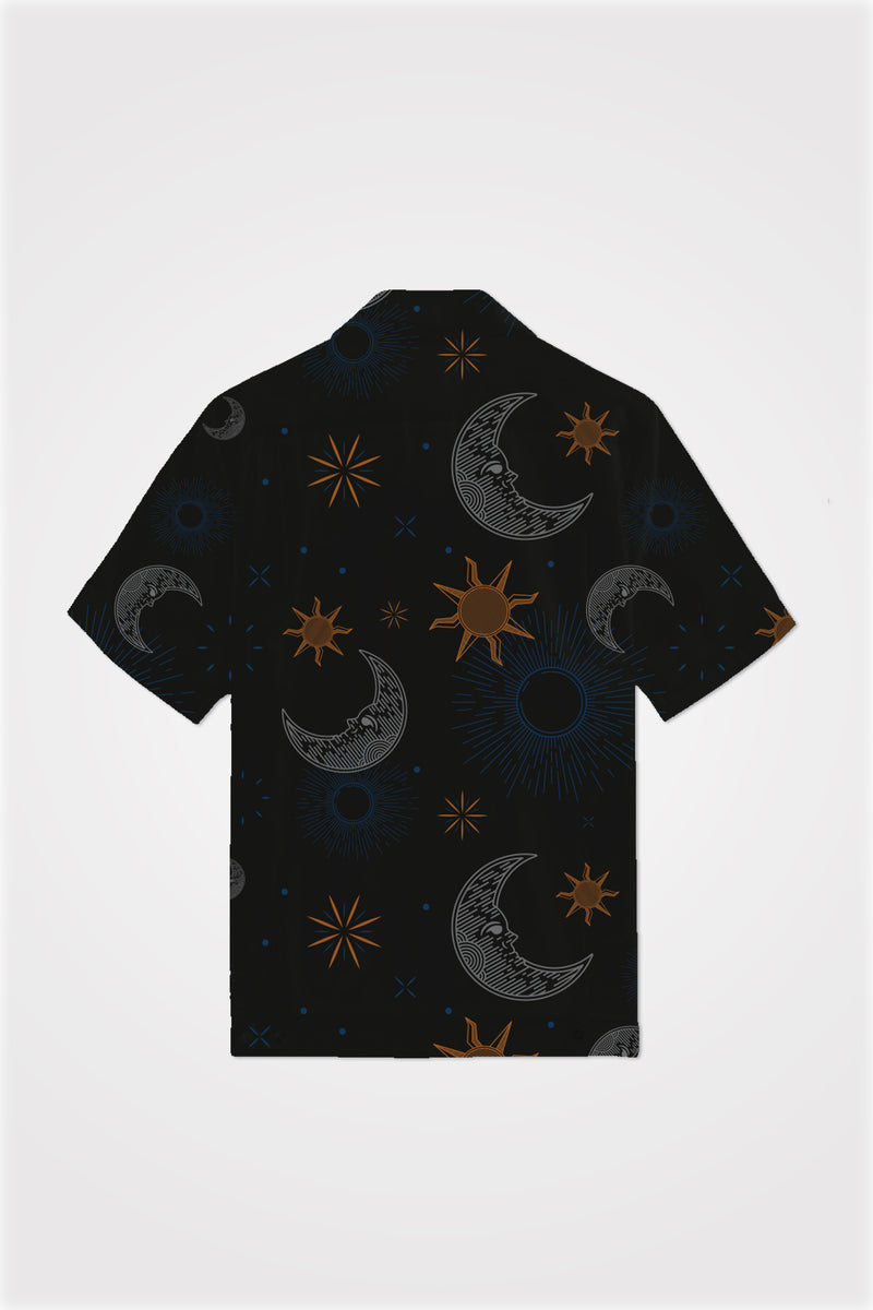 PMC x SHALS Blessings In The Skies Bowling Shirt Black