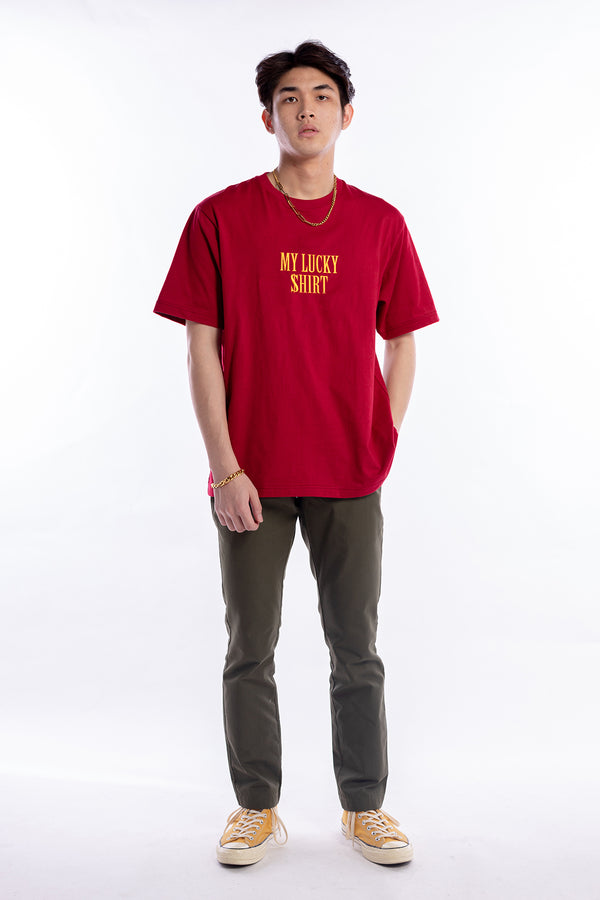 Lucky Shirt Tee Burgundy