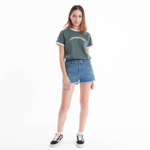 Counsellor Baby Tee Forest Green