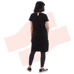 Side Split Dress Onyx