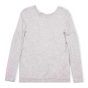 Slinky Long Sleeve Tee Melange Grey