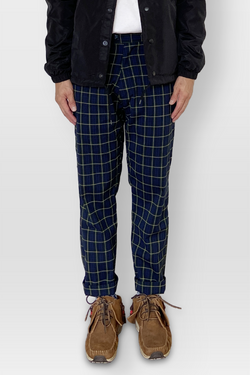 Mechanic Checkered Pants Navy/Yellow