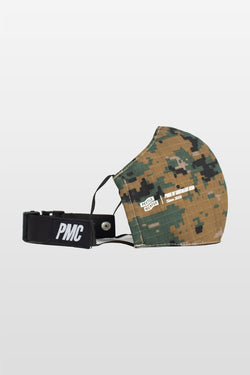 Frontal Utility Face Mask Digital Camo Green