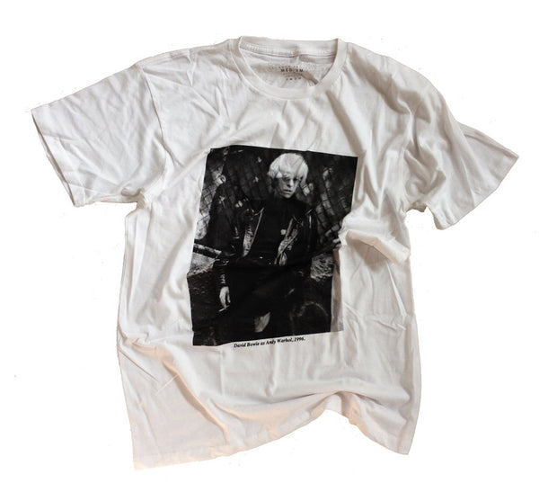 Bowie as Warhol Tee (White)