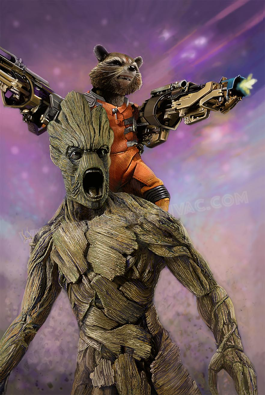 Guardians- Rocket and Groot