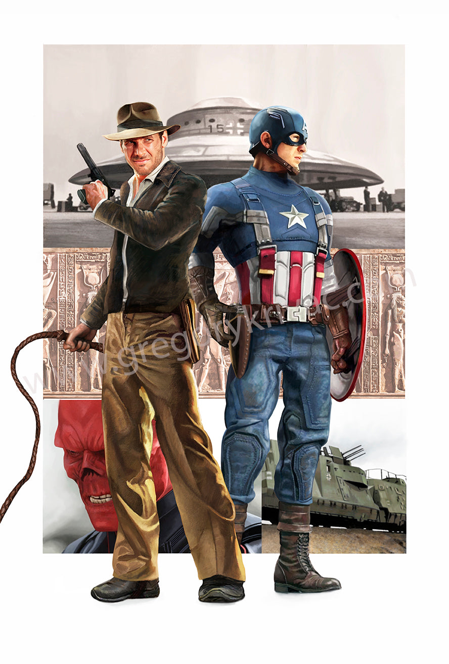 Captain America and Indiana Jones