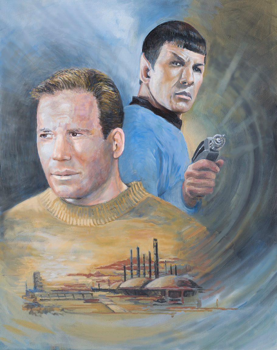 Oil sketch for a star trek painting