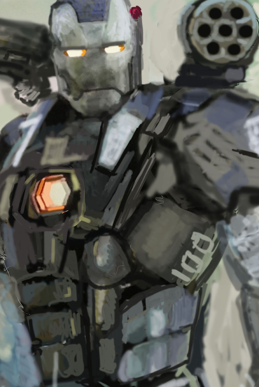 War Machine digital sketch