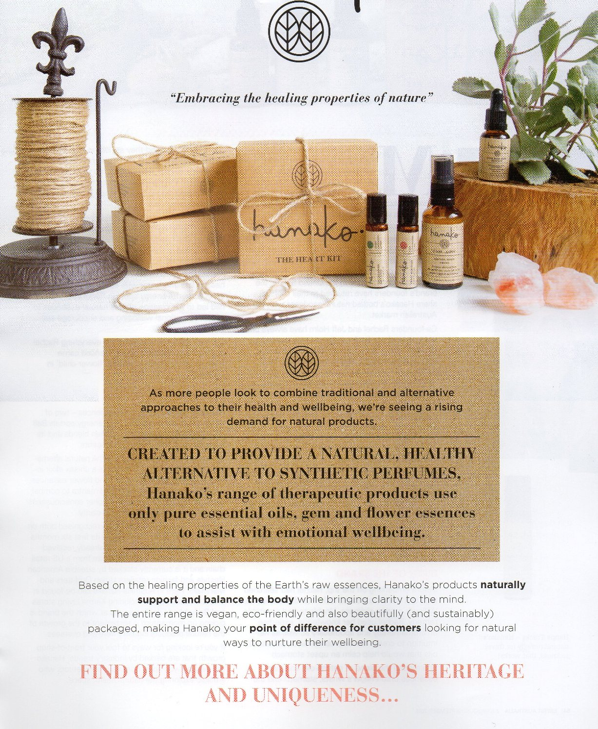 Hanako Therapies featuring in Esprit Magazine
