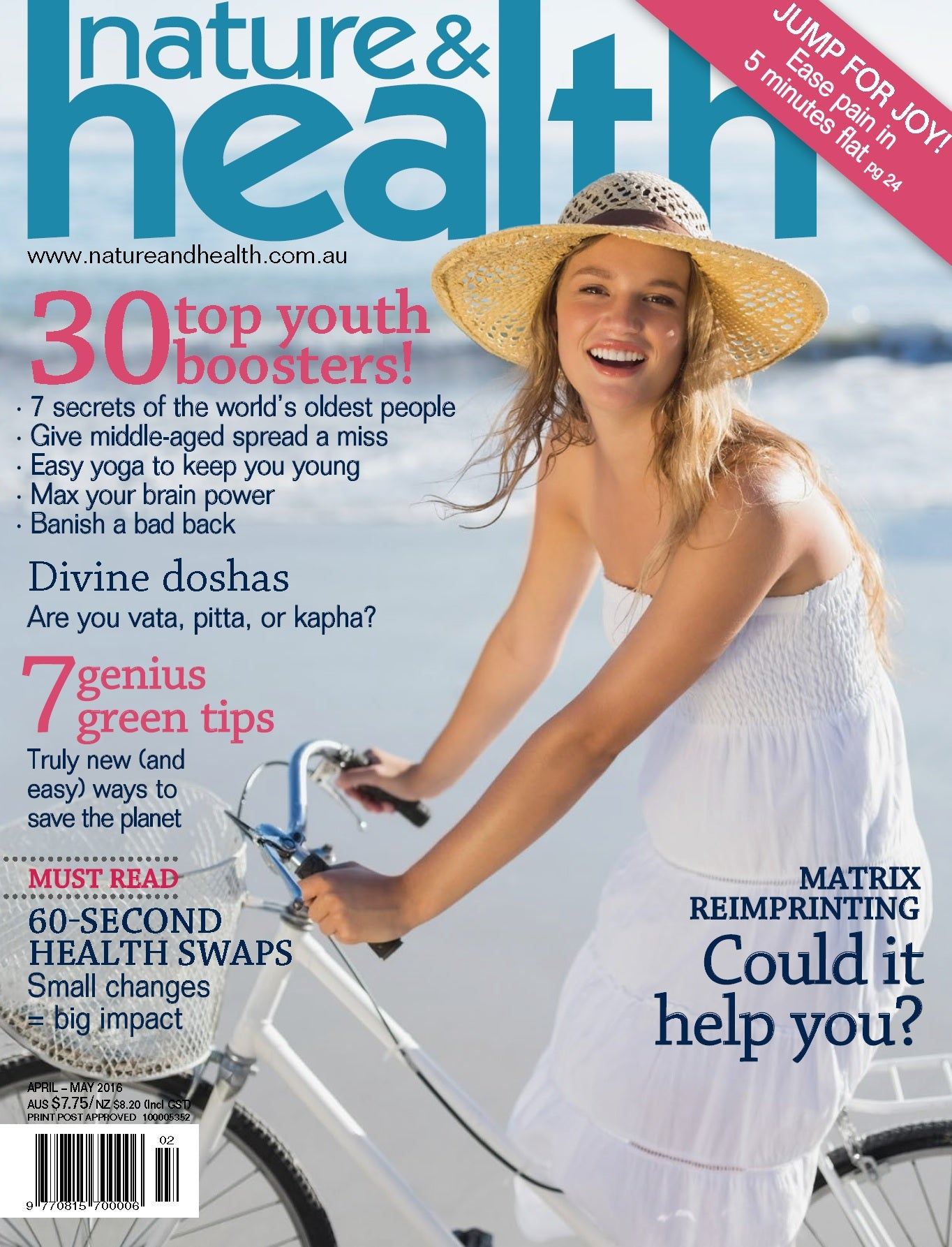 Hanako Therapies interview featuring in Nature & Health Magazine