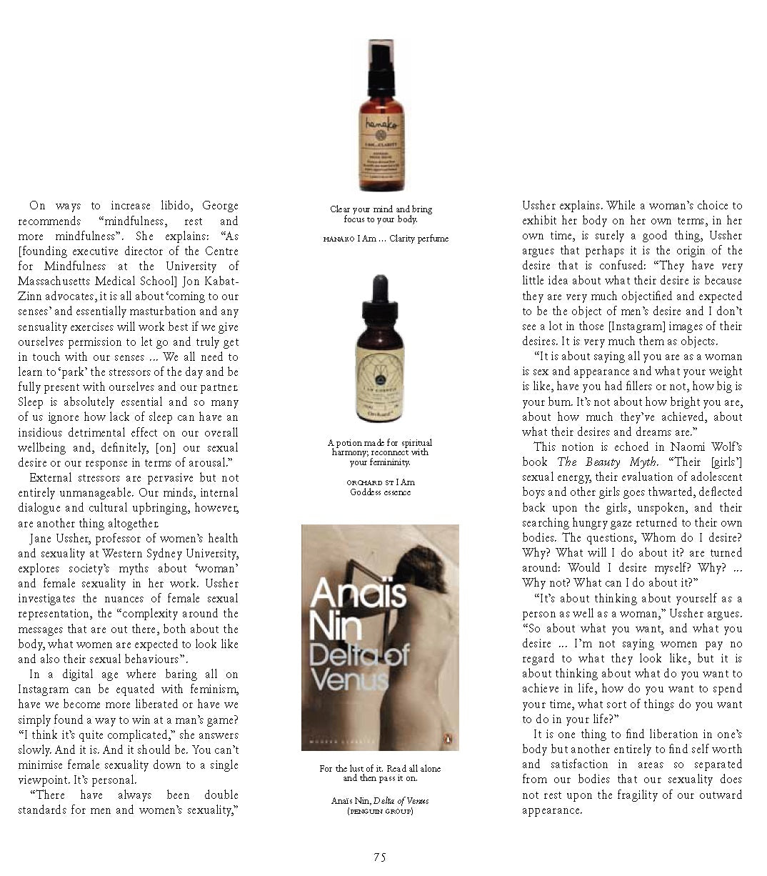 Hanako Therapies featuring in Russh Magazine