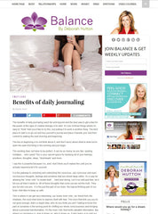Hanako Therapies featuring on Balance by Deborah Hutton website