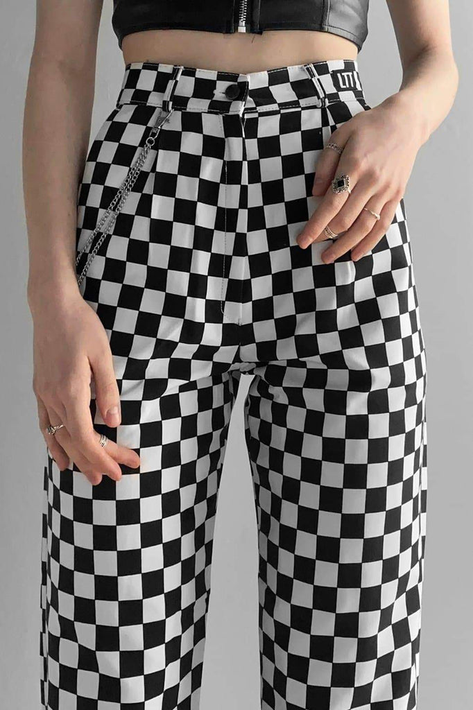 Checkerboard Classic Trouser - Love Too True