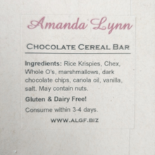 Load image into Gallery viewer, Chocolate Cereal Bar ingredients list