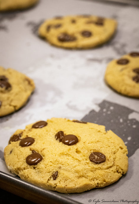 Take-&-Bake Chocolate Chip Cookie Dough baked