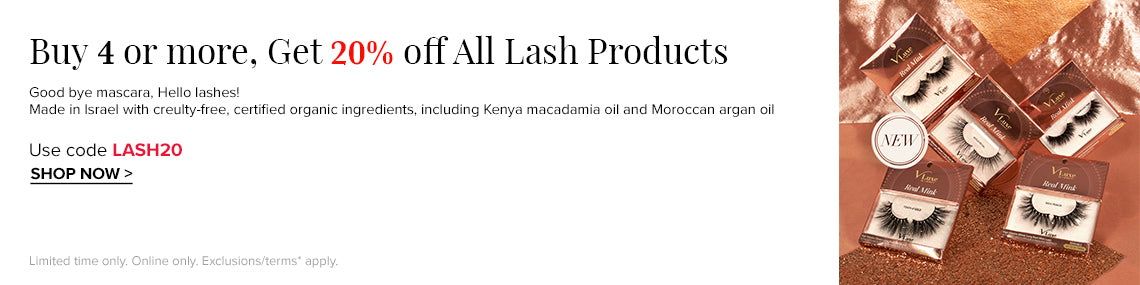 Buy 4 and Get 20% off with LASH20