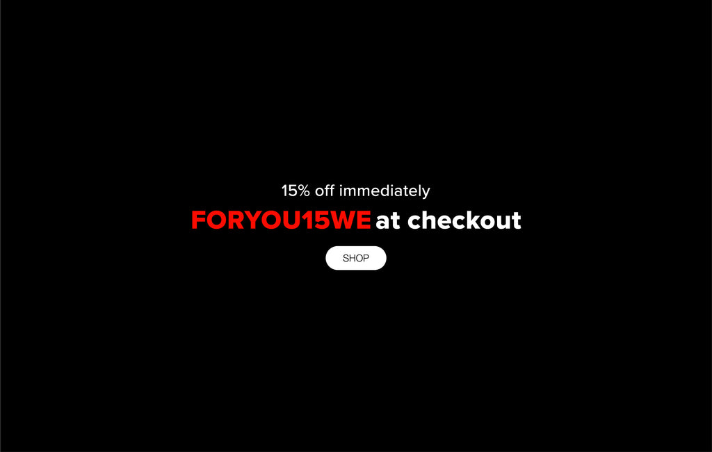15% off with FORYOU15WE