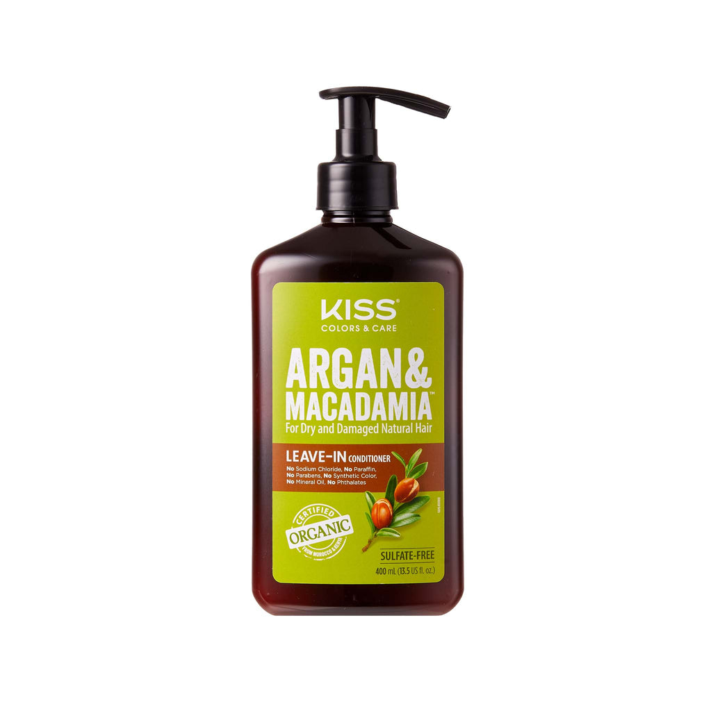 kiss colors argan and macadamia leave-in conditioner