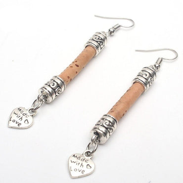 Pendientes Made With Love - Corcho Moda