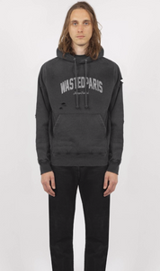 Hoodie College Faded black