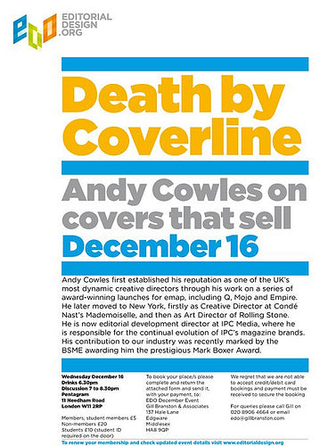 EDO: Andy Cowles on front covers