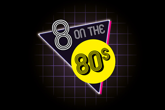 Typographic Circle: 8 on the 80s