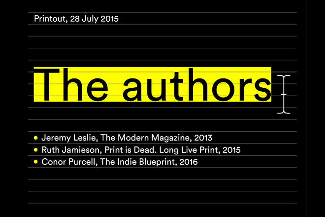Printout audio: The Authors, 28.07.15