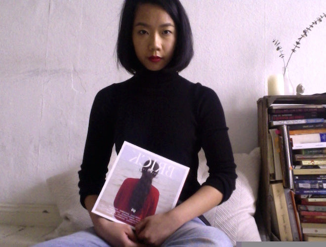 Charmaine self-portrait titled 'woman in red looking within me' plz don't laugh i had a lot of fun doing this love you