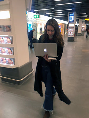 a quick file transfer at the airport