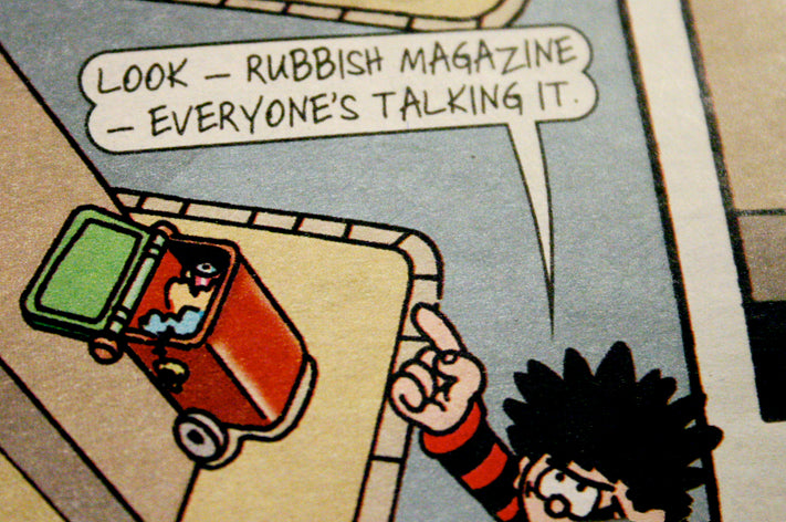 rubbish in the beano