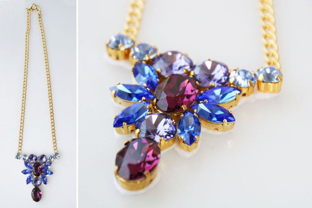 Easy to create a DIY necklace sparkling settings.