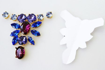 Re-create the design using the crystals