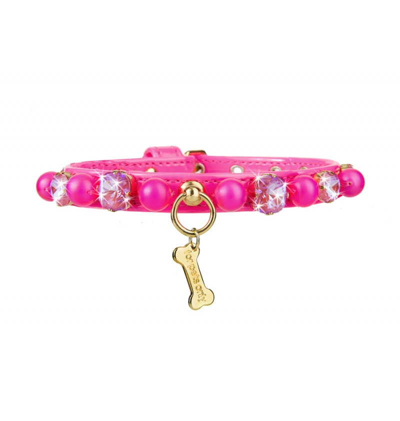 CANDY STORE COLLAR HOT PINK - A.Mici&Co Boutique