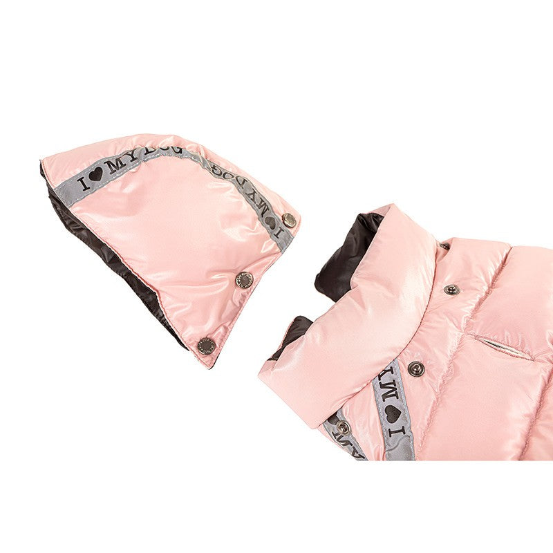 SHINE SPORTY PUFFER OLD PINK