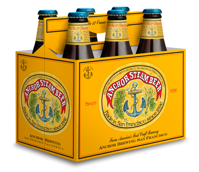 Anchor Steam Beer-6 pack bottles