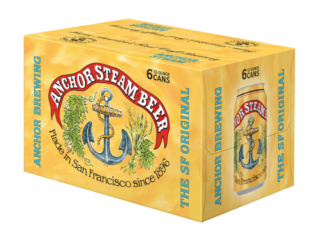 Anchor Steam Beer-6 pack Cans