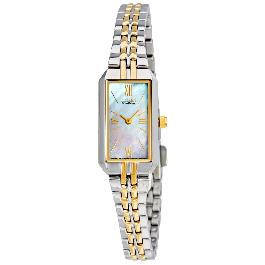Ladies Citizen Eco Drive Silhouette Two Tone Watch