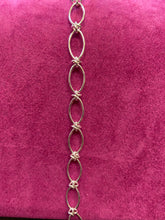 Load image into Gallery viewer, Sterling Silver Oval & Twist Bracelet