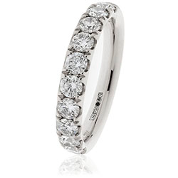 Platinum Claw Set Diamond Band 1.00ct