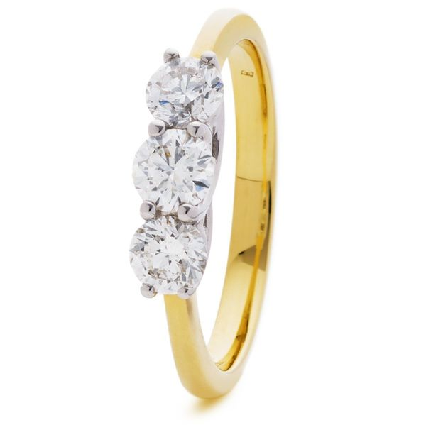 18ct Yellow Gold Three Stone Diamond Ring 0.50ct - 3.00ct