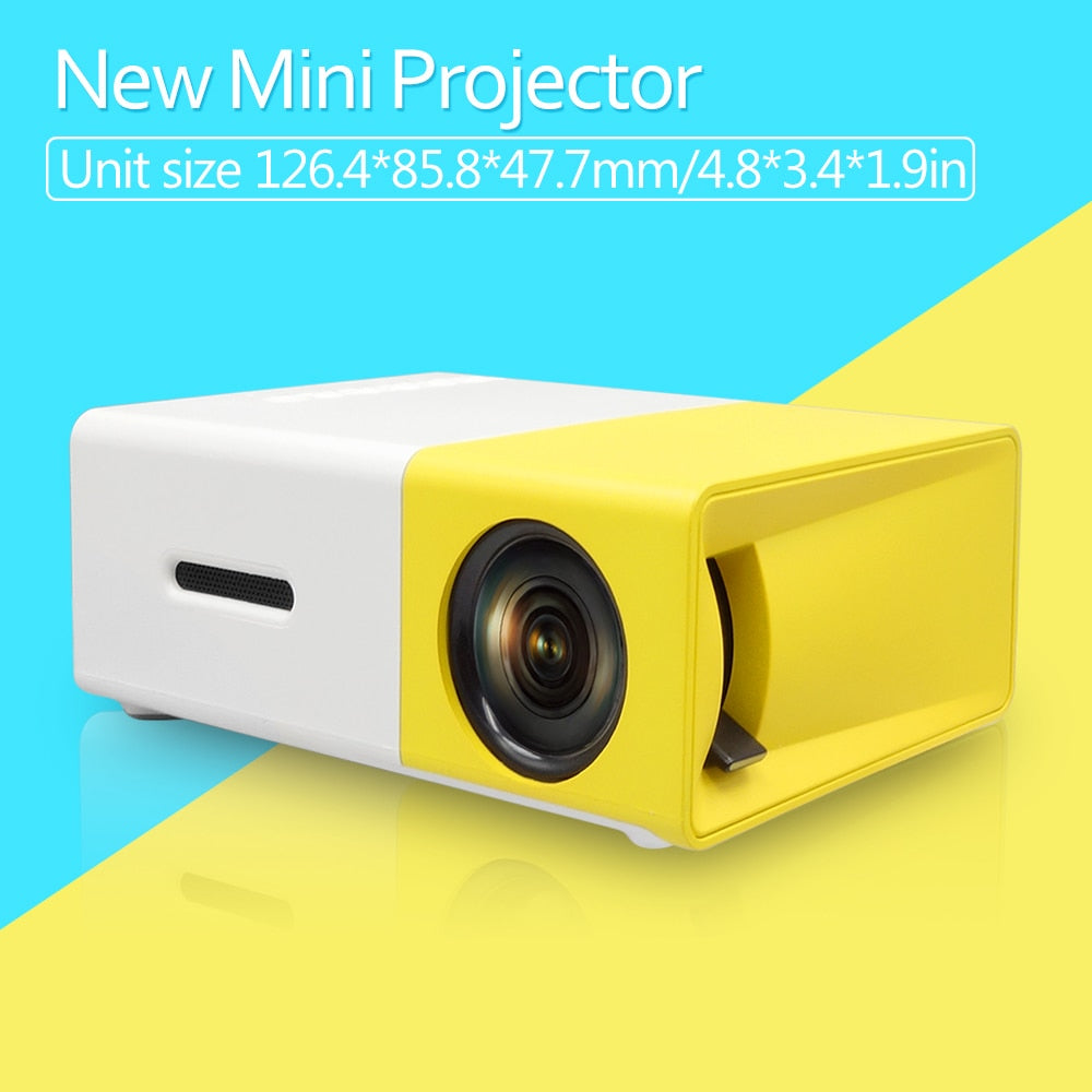 YG300 Built-in Battery Version LCD Mini Portable Pocket Projector