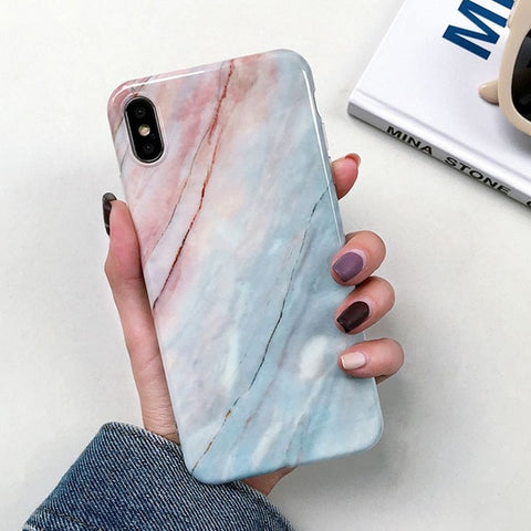 Marble Print Phone Case for iPhone
